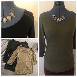 Two Merona Knit Shirts